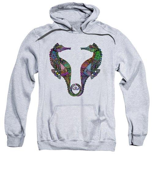 Electric Seahorses Sweatshirt by Tammy Wetzel