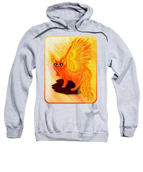 Elemental Fire Fairy Cat Sweatshirt by Carrie Hawks