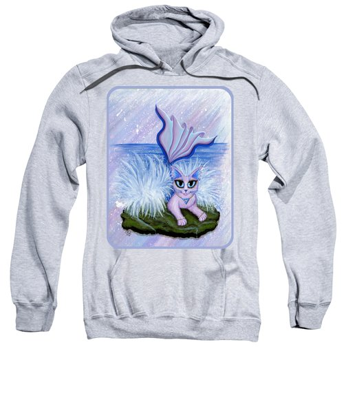 Elemental Water Mermaid Cat Sweatshirt by Carrie Hawks