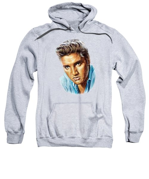 Elvis T-shirt Sweatshirt by Herb Strobino