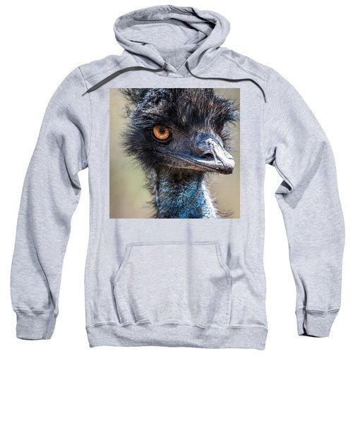 Emu Eyes Sweatshirt by Paul Freidlund