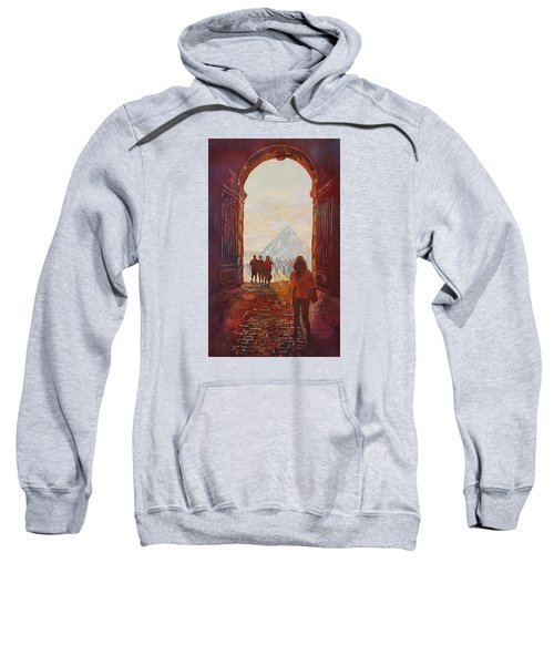 Evening At The Louvre Sweatshirt by Jenny Armitage