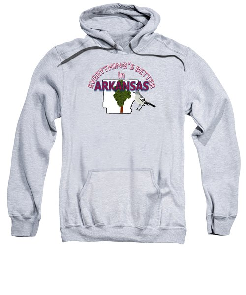 Everything's Better In Arkansas Sweatshirt by Pharris Art