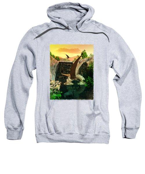 Fantasy Worlds 3d Dinosaur 2 Sweatshirt by Sharon and Renee Lozen