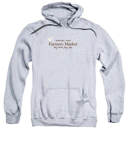 Farmers Market Sweatshirt by Nancy Ingersoll