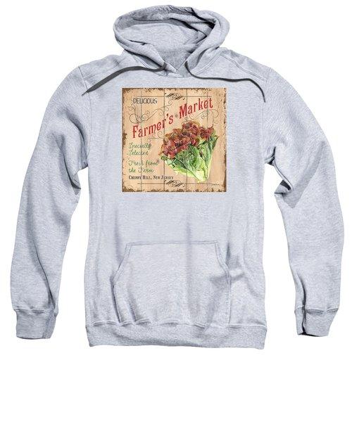 Farmer's Market Sign Sweatshirt by Debbie DeWitt