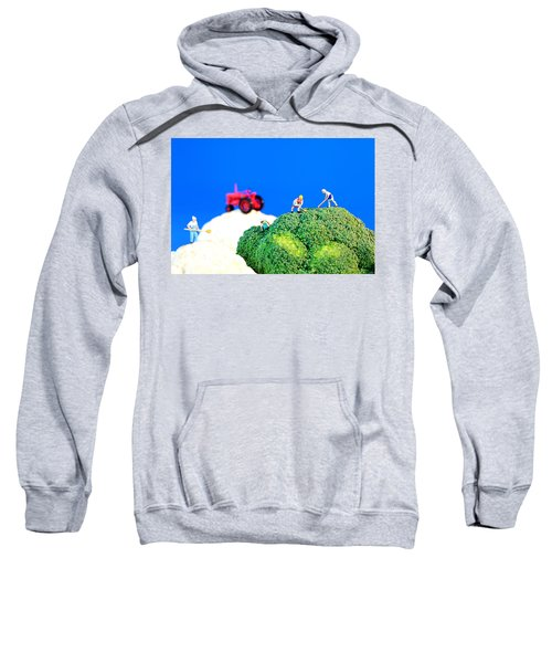 Farming On Broccoli And Cauliflower II Sweatshirt by Paul Ge