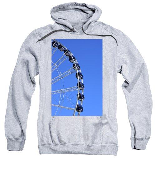 Ferris Wheel At Navy Pier, Chicago No. 1 Sweatshirt by Sandy Taylor