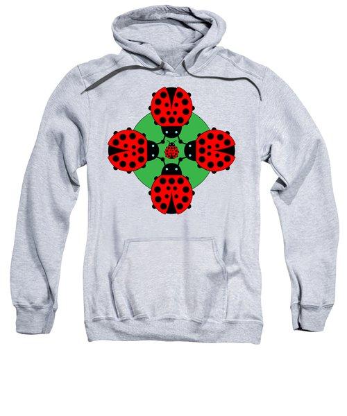 Five Lucky Ladybugs Sweatshirt by John Groves