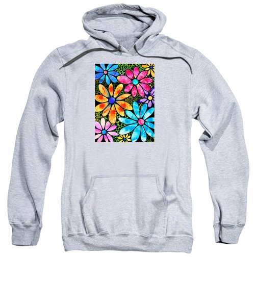 Floral Art - Big Flower Love - Sharon Cummings Sweatshirt by Sharon Cummings