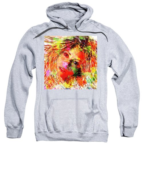 Flowery Shakira Sweatshirt by Navo Art