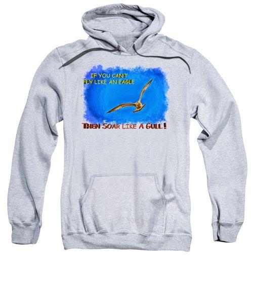 Flying Gull Sweatshirt by John M Bailey