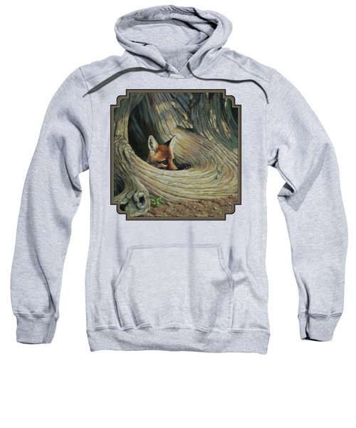 Fox - It's A Big World Out There Sweatshirt by Crista Forest