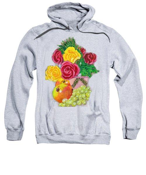 Fruit Petals Sweatshirt by Joe Leist -digitally mastered by- Erich Grant
