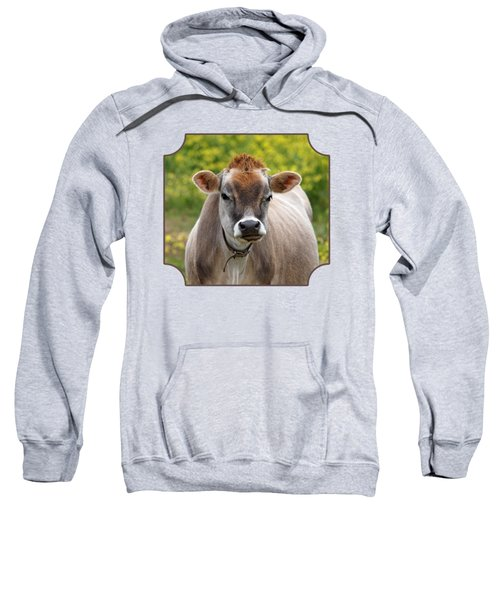 Funny Jersey Cow - Horizontal Sweatshirt by Gill Billington