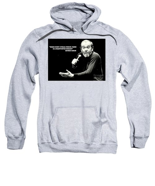 George Carlin Art  Sweatshirt by Pd