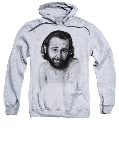 George Carlin Portrait Sweatshirt by Olga Shvartsur