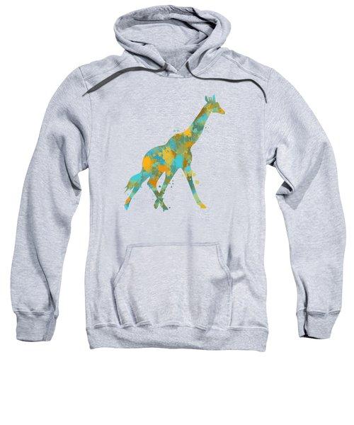 Giraffe Watercolor Art Sweatshirt by Christina Rollo