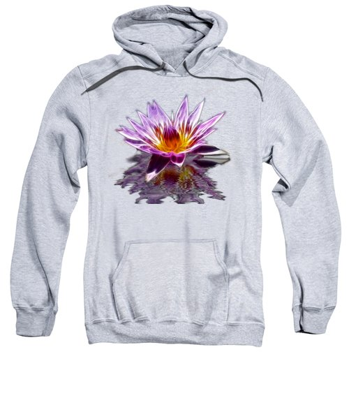 Glowing Lilly Flower Sweatshirt by Shane Bechler