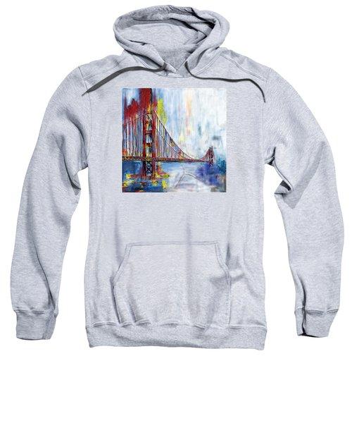 Golden Gate Bridge 218 1  Sweatshirt by Mawra Tahreem