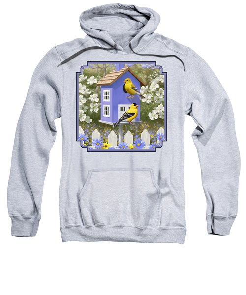 Goldfinch Garden Home Sweatshirt by Crista Forest