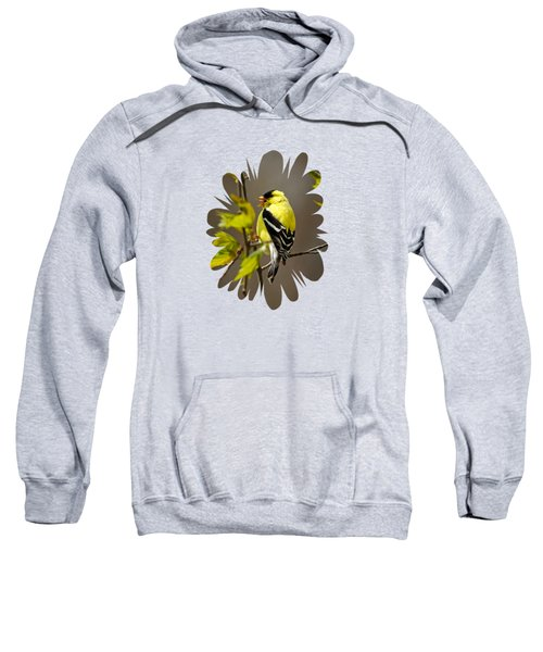 Goldfinch Suspended In Song Sweatshirt by Christina Rollo