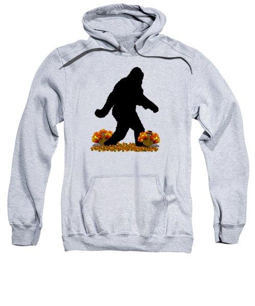Gone Thanksgiving Squatchin' Sweatshirt by Gravityx9   Designs
