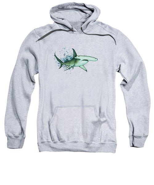Great Hammerhead Shark  Sweatshirt by Amber Marine
