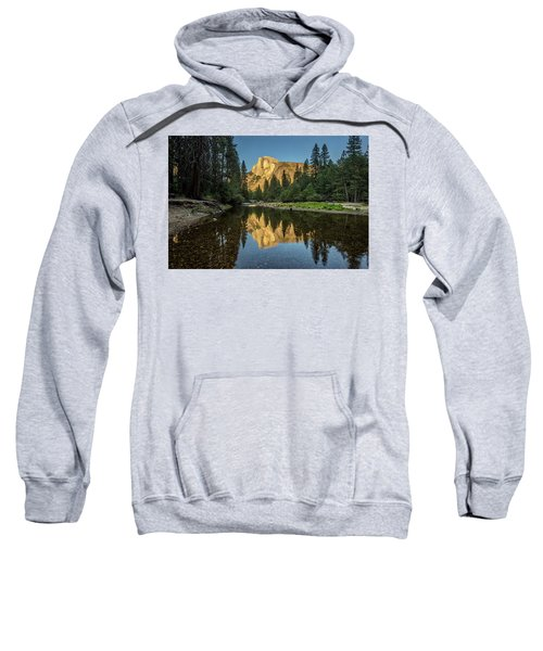 Half Dome From  The Merced Sweatshirt by Peter Tellone