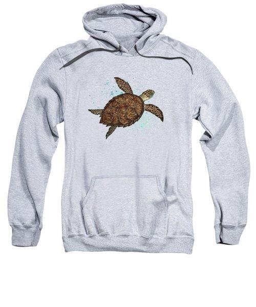 Hawksbill Sea Turtle Sweatshirt by Amber Marine
