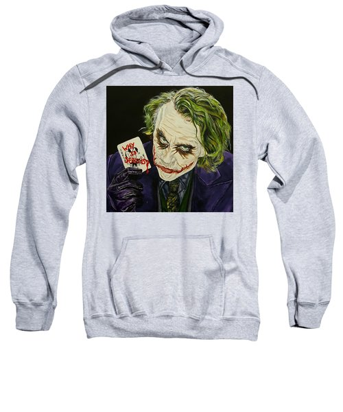 Heath Ledger The Joker Sweatshirt by David Peninger