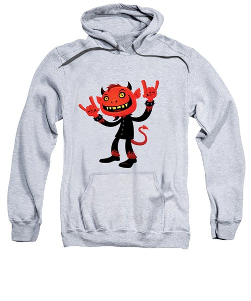 Heavy Metal Devil Sweatshirt by John Schwegel