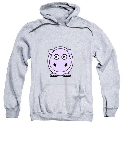 Hippo - Animals - Art For Kids Sweatshirt by Anastasiya Malakhova