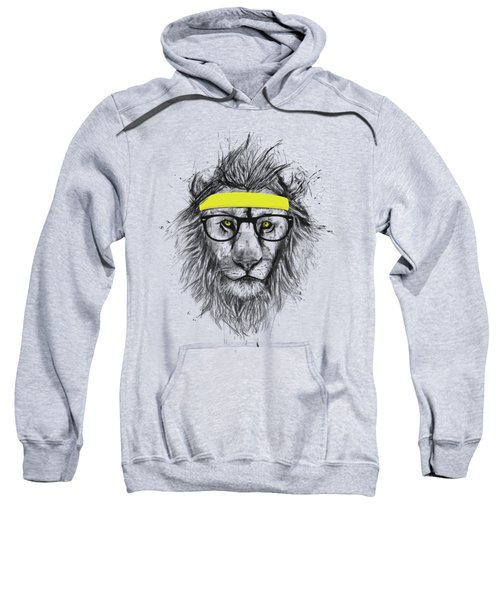 Hipster Lion Sweatshirt by Balazs Solti