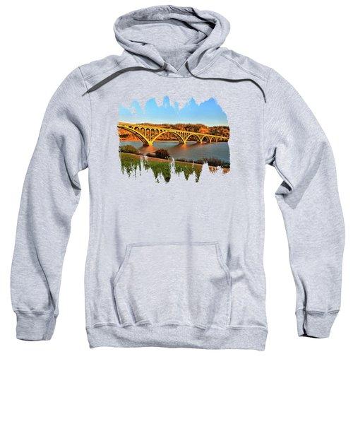 Historic Patterson Bridge Gold Beach Sweatshirt by Thom Zehrfeld