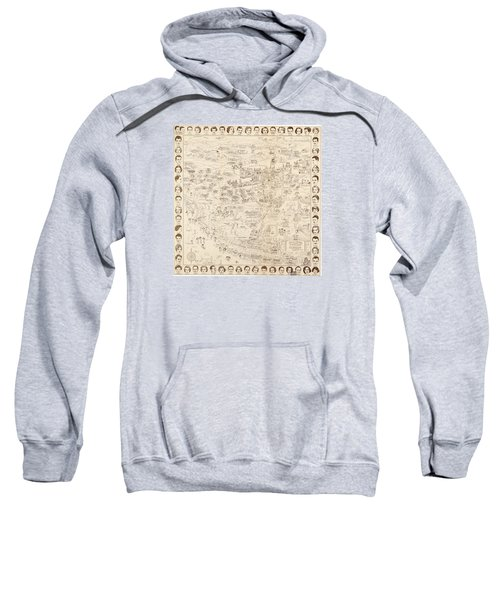 Hollywood Map To The Stars 1937 Sweatshirt by Don Boggs