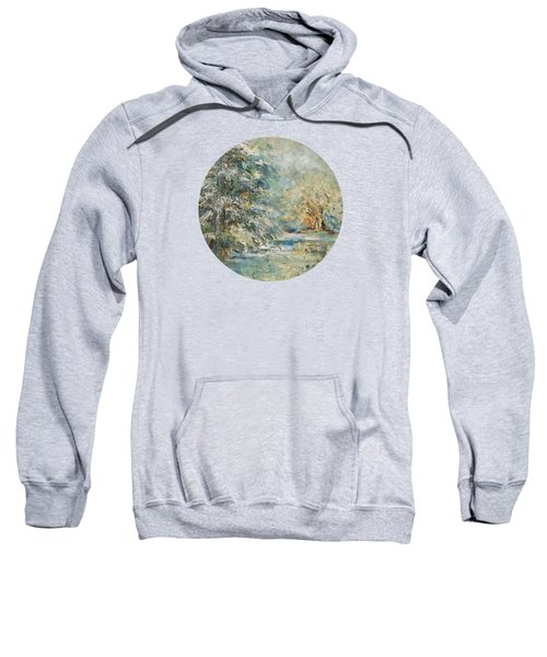In The Snowy Silence Sweatshirt by Mary Wolf