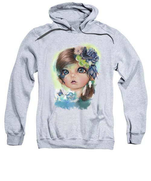 Indigo - Butterfly Keeper - Munchkinz By Sheena Pike  Sweatshirt by Sheena Pike