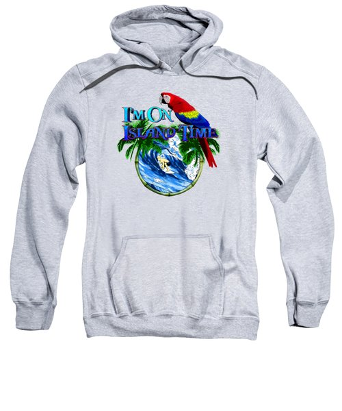 Island Time Surfing Sweatshirt by Chris MacDonald