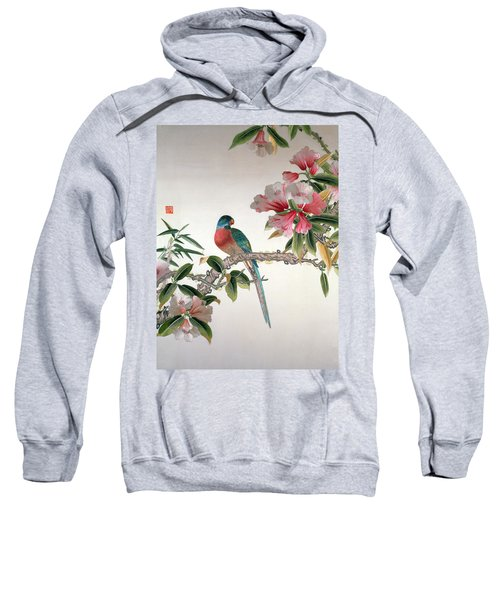 Jay On A Flowering Branch Sweatshirt by Chinese School