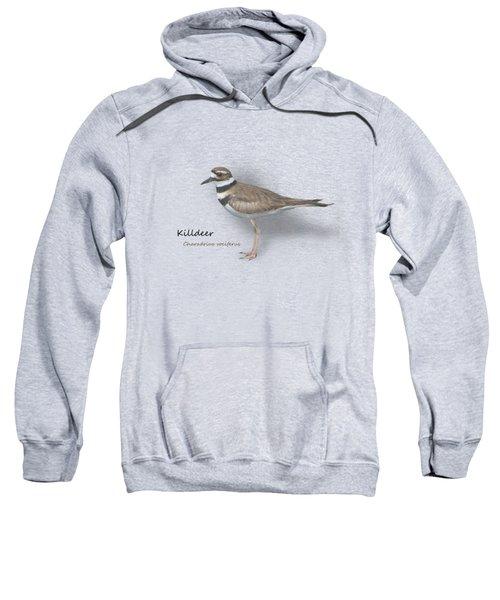 Killdeer - Charadrius Vociferus - Transparent Design Sweatshirt by Mitch Spence