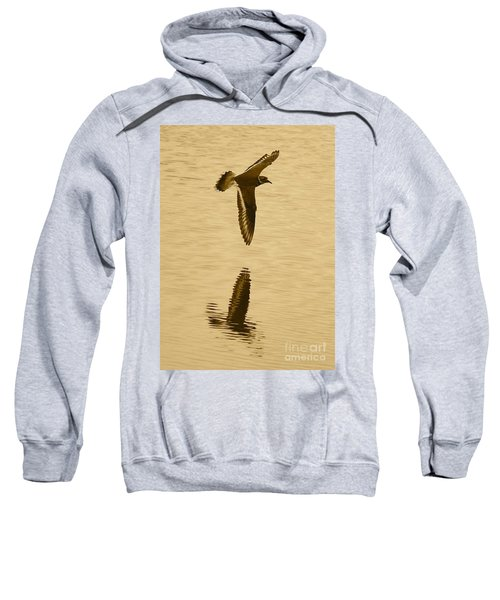Killdeer Over The Pond Sweatshirt by Carol Groenen