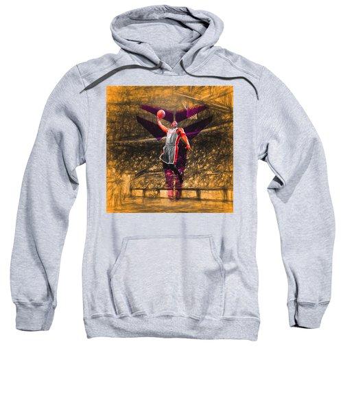 Kobe Bryant Black Mamba Digital Painting Sweatshirt by David Haskett