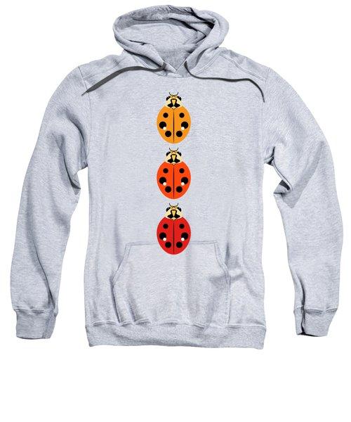 Ladybug Trio Vertical Sweatshirt by MM Anderson