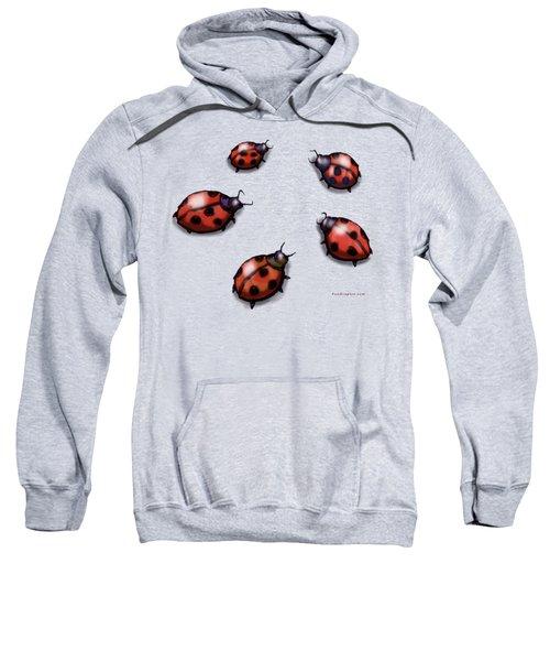Ladybugs Sweatshirt by Kevin Middleton