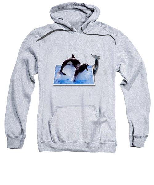 Leaping Orcas Sweatshirt by Roger Wedegis