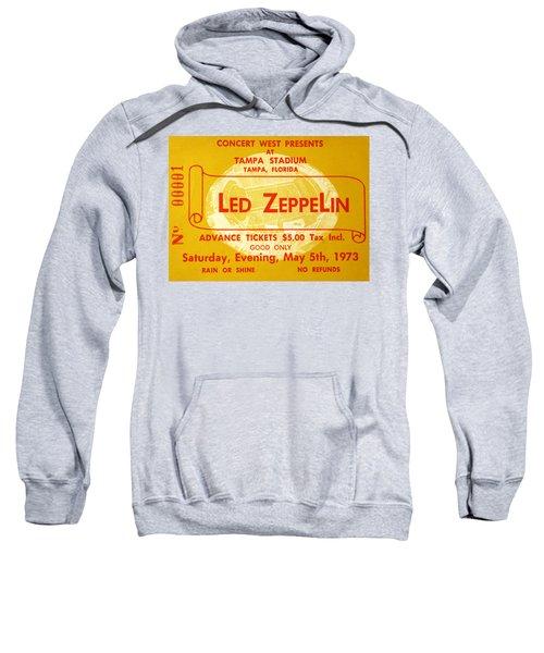 Led Zeppelin Ticket Sweatshirt by David Lee Thompson