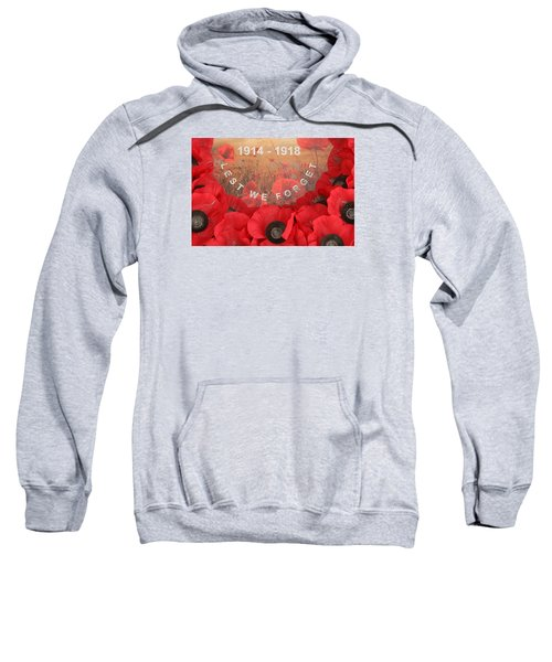 Sweatshirt featuring the photograph Lest We Forget - 1914-1918 by Travel Pics