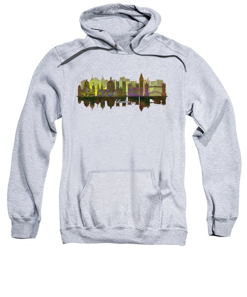 London England Skyline In Golden Light Sweatshirt by John Groves