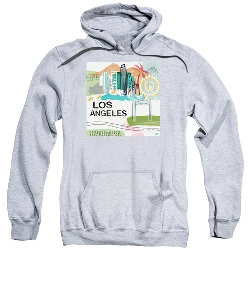 Los Angeles Cityscape- Art By Linda Woods Sweatshirt by Linda Woods